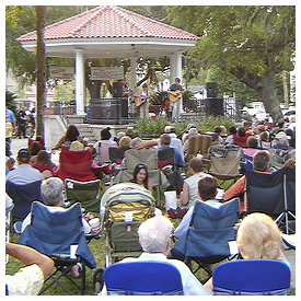 Concerts in the Plaza and summer in St Augustine