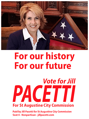 ELECT JILL PACETTI FOR CITY COMMISSION